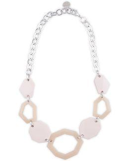 Pastel Hexagon Necklace