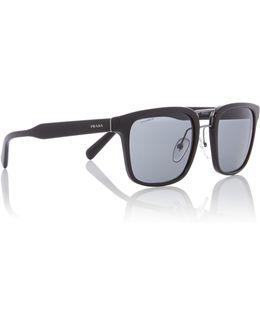Black Pr 14ts Rectangle Sunglasses