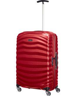 Lite-shock Chilli Red 4 Wheel 75cm Large Suitcase