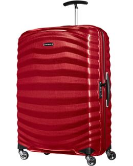 Lite-shock Chilli Red 4 Wheel Extralarge Suitcase