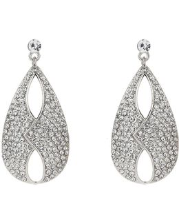 Jacket Front Cubic Embed Earring