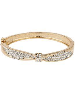 Centre Pinch Cubic Bangle Bracelet