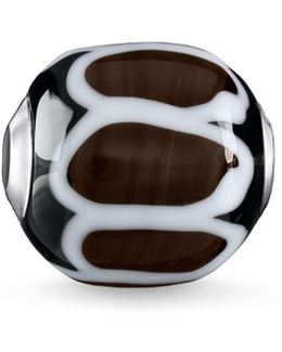 Brown Glass Hand-crafted Africa Karma Bead
