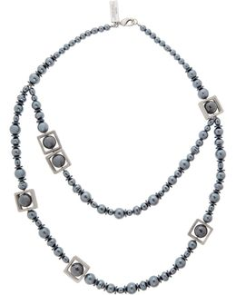 Ranch Long Black Pearl Necklace