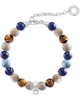 Charm Club Silver Beaded Charm Bracelet
