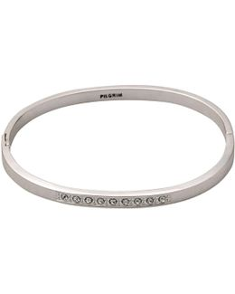Classic Silver Plated White Bracelet