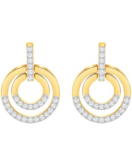 Circle Pav Hoop Earrings