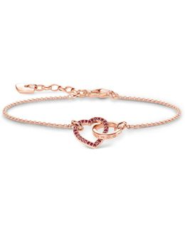 Together Forever Rose Gold Heart Bracelet