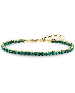 Green Malachite Gold Chakra Bracelet
