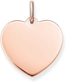 Love Coin Large Engravable Gold Heart Pendant