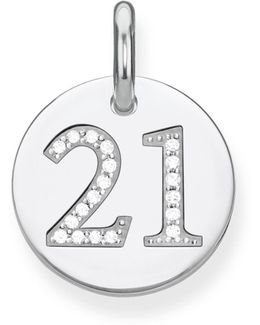 Love Coin Lucky Number 21 Heart Pendant