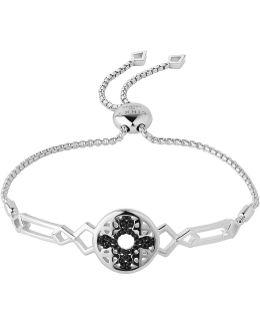 Timeless Sterling Silver & Black Sapphire Bracele