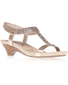 Teale3 Mid Heel Gladiator Sandals