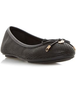Hype Square Toe Ballerina Shoes