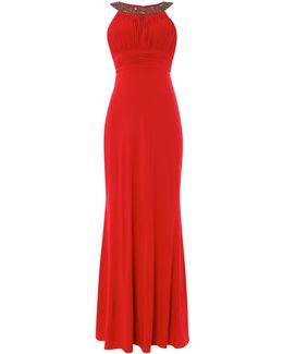 Crystal Neck Halter Dress