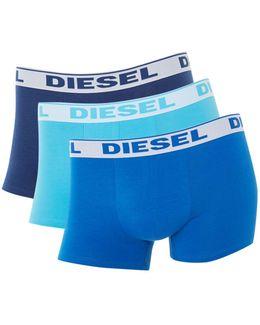 3 Pack Solid Underwear Trunk