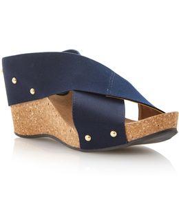 Gladley Crossover Strap Wedge Sandals