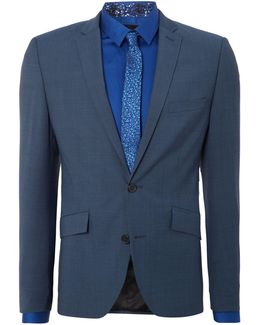 Nolan Notch Lapel Slim Fit Suit Jacket