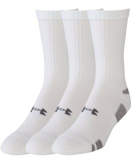 3 Pack Heatgear Plain Crew Socks