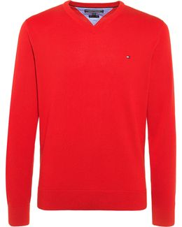 Pacific Plain V Neck Jumper