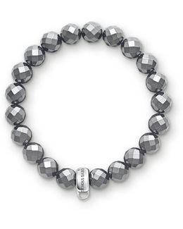 Charm Club Hematite Stone Bracelet
