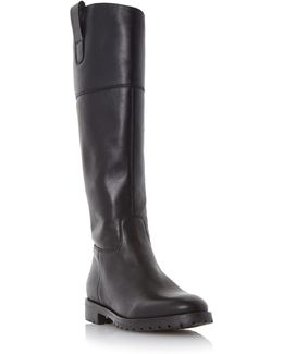 Timi Side Tab Leather Riding Boots