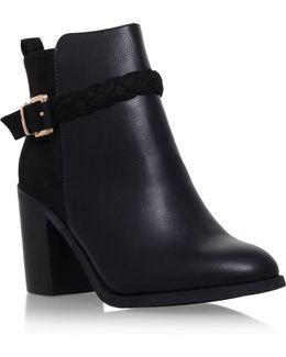 Swift Mid Block Heel Buckle Ankle Boots