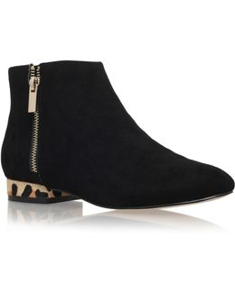 Soho Low Heel Ankle Boots With Zip