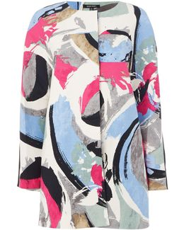 Hopsack Printed Lady Coat