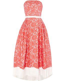 Hi-lo Hem Colour Block Party Dress