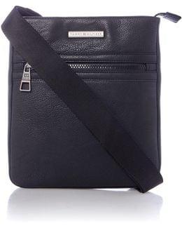 Pu Essential Flat Crossover Bag