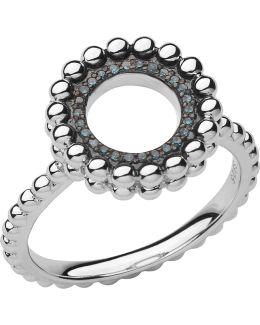 Effervescence Silver & Diamond Ring