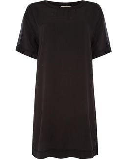 Rhodani Mesh Sleeve Detail Dress