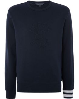 Front Print Classic Fit Crew Neck Sweatshirt