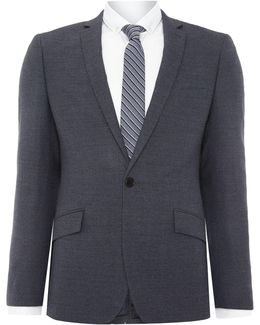 Jonathon Sb1 Textured Notch Lapel Suit Jacket