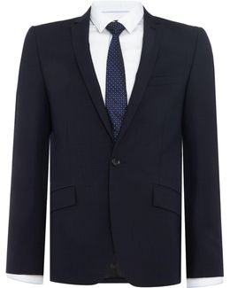 Men's Devan Slim Fit Tonal Check Suit Jacket