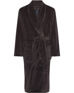 Classic Charcoal Marl Fleece Dressing Gown