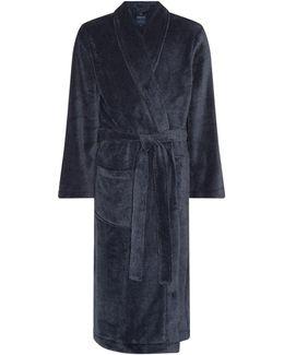 Classic Navy Fleece Dressing Gown