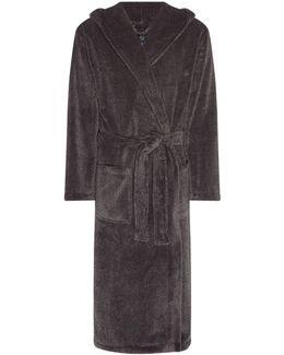 Hooded Charcoal Marl Fleece