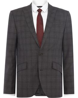 Douglas Sb2 Slim Fit Check Suit Jacket