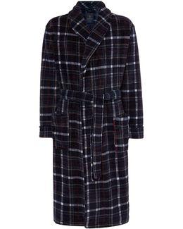 Printed Check Fleece Robe
