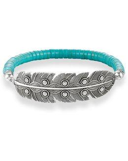 Ethno Feather Love Bridge Bracelet
