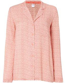 Long Sleeve Interlaving Dot Pyjama Top
