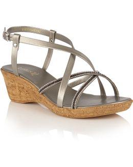 Merida Strappy Wedge Sandals