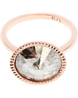 Rada Rose Gold Rivoli Crystal Ring