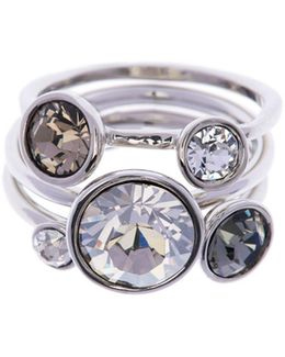 Jackie Silver Jewel Stack Ring