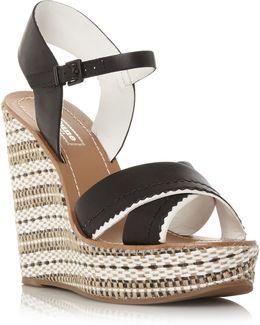 Khalo Aztec Leather Wedges