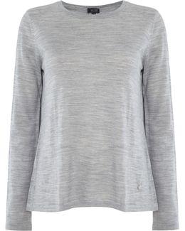 Long Sleeve Split Back Knit