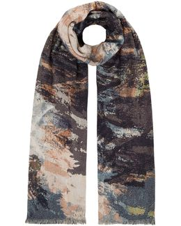 Double Sided Painted Print Scarf