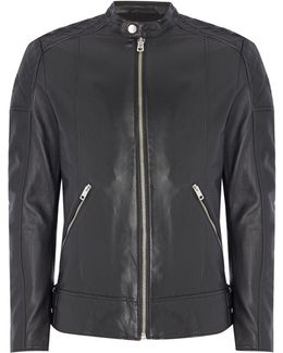 L-marton Leather Biker Jacket